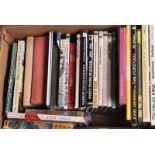 Box of 32 railway books mainly hardback