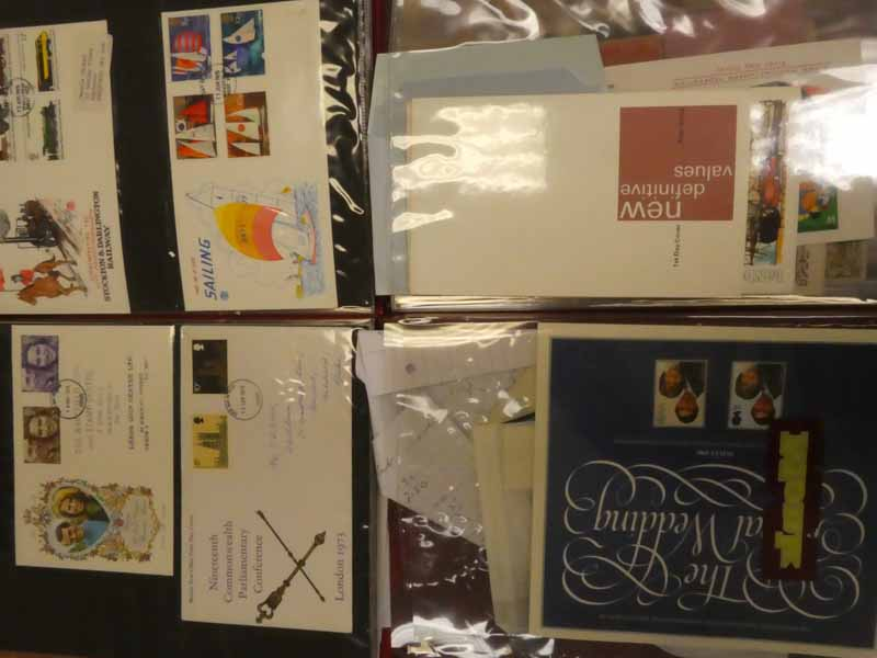 Two albums of G.B Queen Elizabeth II first day covers, stamp books, presentation packs