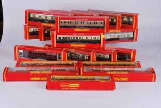 Collection of twenty five Hornby railways carriages all boxed. Inlcudes seventeen different types