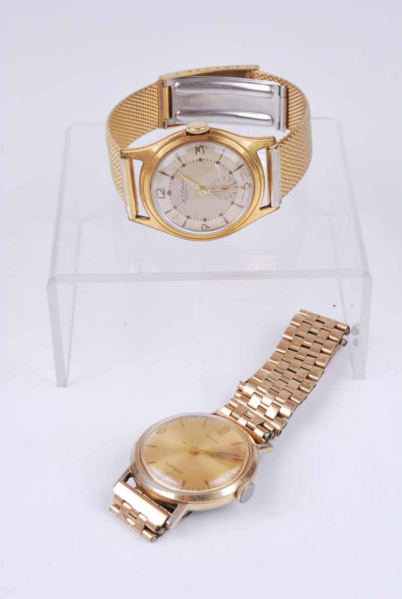 An R.G. Connor of Rochdale gentleman's gold plated manual wind wristwatch, on multilink strap;