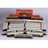 Collection of thirty Hornby and Tri-Ang railway carriages mainly unboxed including pullman, brake,