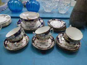 Victorian 22 piece tea service in Rosebud design.
