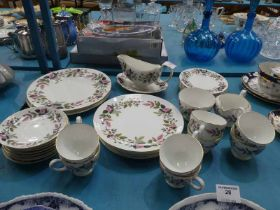 A Wedgwood Hathaway Rose 33 piece part dinner service for up to six places.