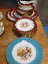A quantity of Royal Stafford portrait tableware and four gamebird printed plates