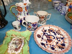 six items of 19th century porcelain and pottery