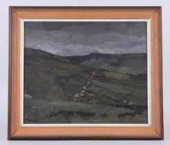 Russell Howarth (British, 1927-2020) oil on board 'Dick Clough' in Burnley, signed lower left and