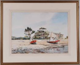 P.J Hargreaves (20th century) watercolour of Morcambe Bay 35cm x 48cm framed and signed