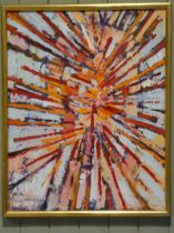 Edward Heeley (1935-2011) oil on canvas abstract devotional picture of the martyrdom of St