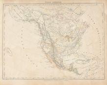 "A REPUBLIC OF TEXAS MAP, ""Nord America,"" CARL FLEMMING, GLOGAU, CIRCA 1844, hand-colored"