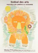 """HENRI MÃ""""IK (French 1922-1993) A PAIR OF PRIMITIVE PRINTS, """"Festival des Artes Exposition des"""