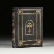 AN EASTON PRESS FAMILY BIBLE, KING JAMES VERSION, LATE 20TH CENTURY, gilt embossed genuine leather-