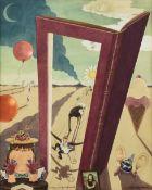 "PEGGY PALMER BURROWS (American 1905-1979) A SURREAL PAINTING, ""Ecdyses on Quadrennial,"" 1945, pencil"