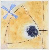 "HEIDI KOENIG (German b. 1964) A PRINT, ""Hana,"" aquatint etching with colors on paper, signed in"
