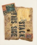 """MICHELLE ENGELMAN-BERNS (American/Texas b. 1962) A COLLAGE, """"Man or Air Stack This Side,"""" FOR THE """""""