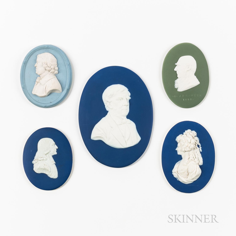 Five Wedgwood Portrait Medallions