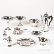 Eleven Pieces of American Sterling Silver Serving Ware