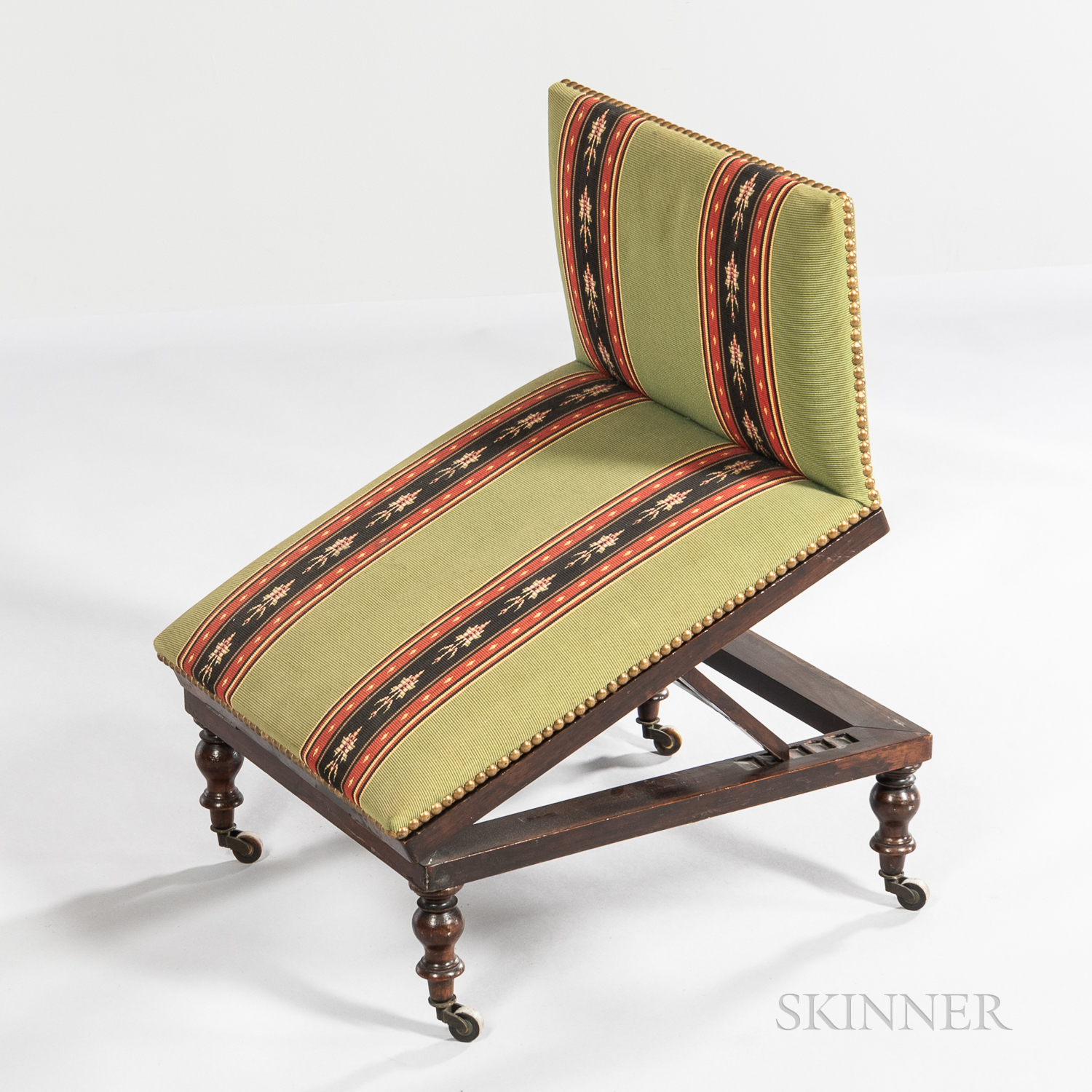 Upholstered Rosewood Gout Stool