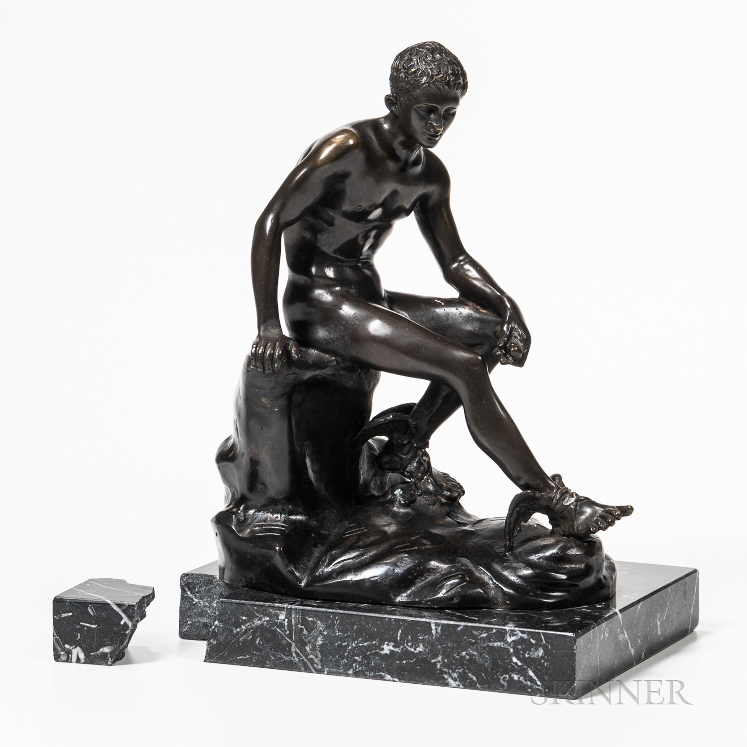 A. DeLuca Bronze Model of a Seated Man