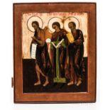 Russian Icon Depicting Three Saints