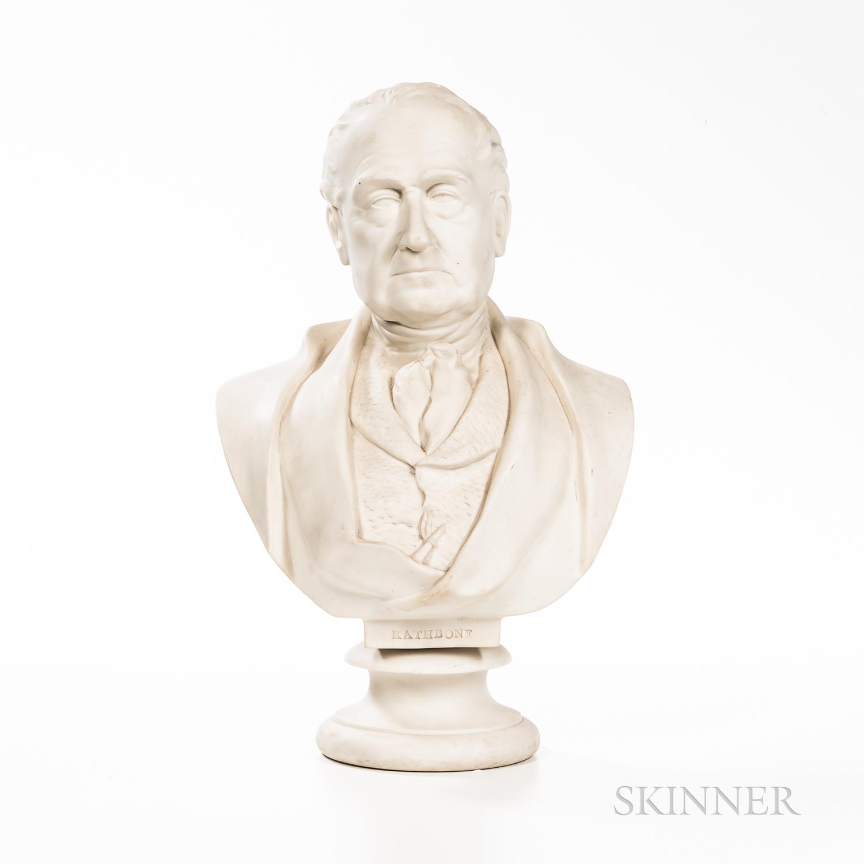 Wedgwood Carrara Bust of Rathbone