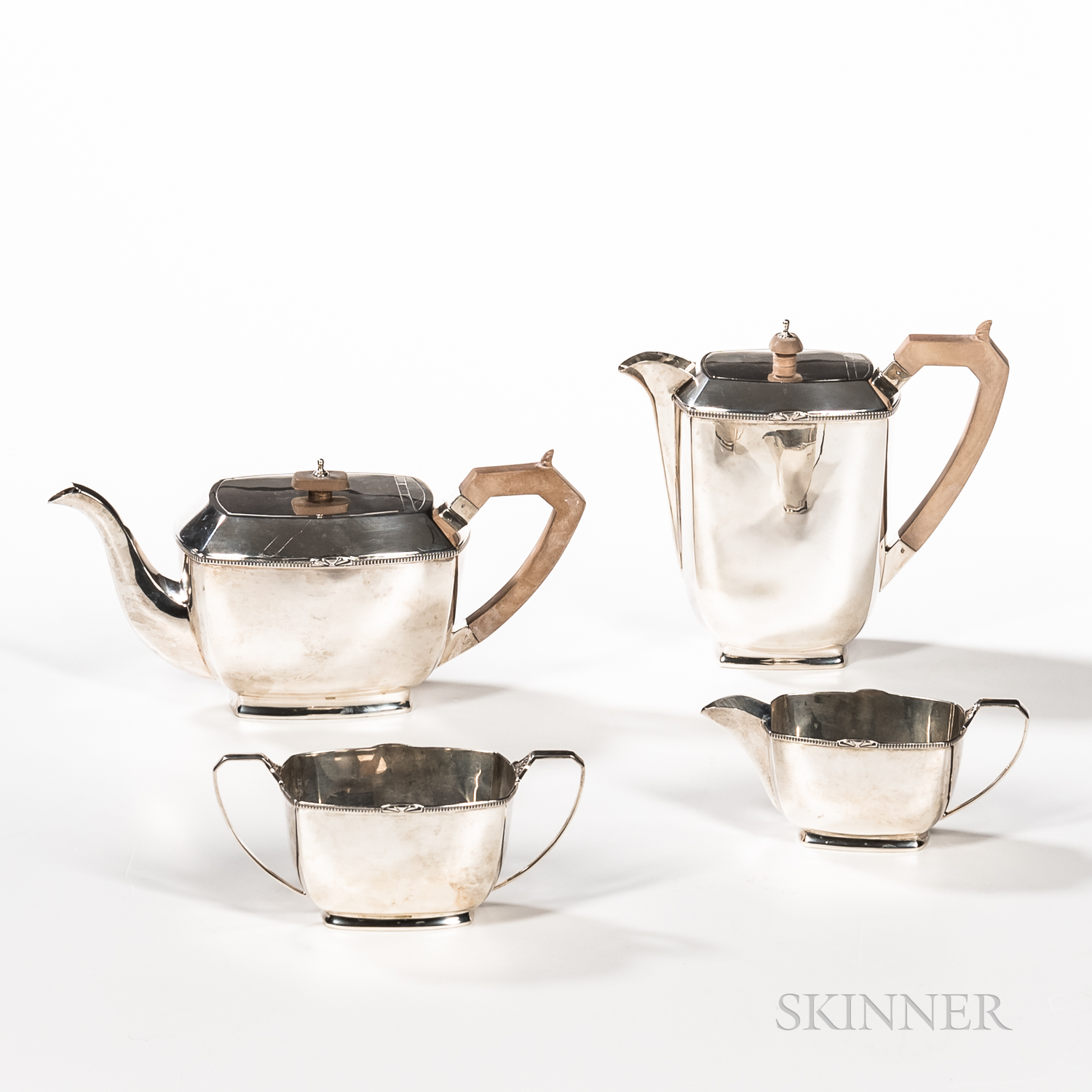 English Four-piece Sterling Silver Coffee and Tea Service - Image 2 of 2