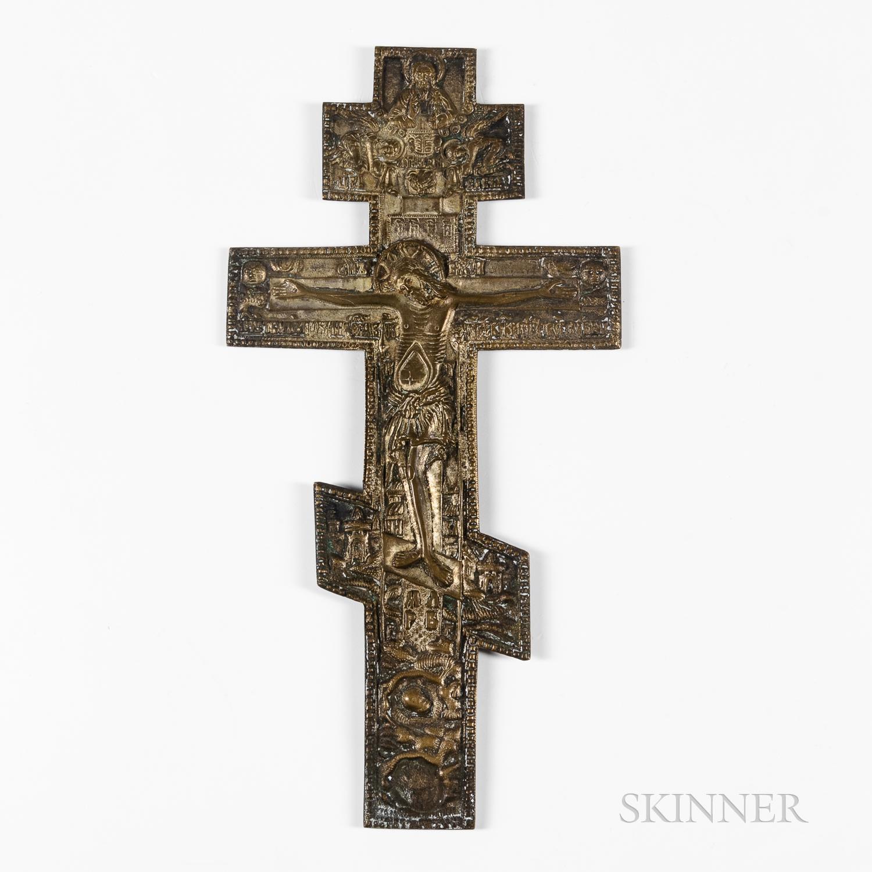 Russian Orthodox Bronze Altar Crucifix