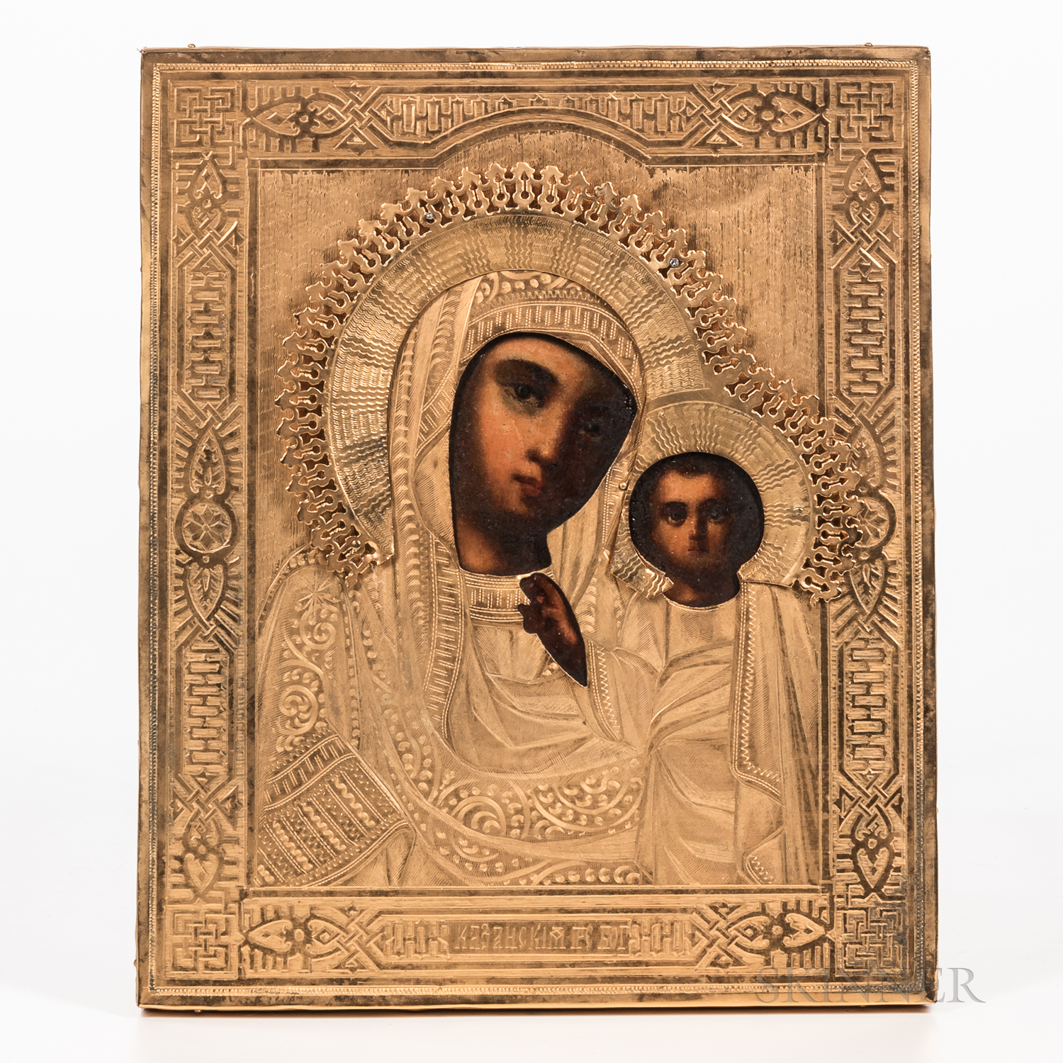 Russian Icon Depicting Mother of God