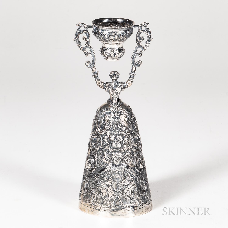 German Sterling Silver Wedding Cup