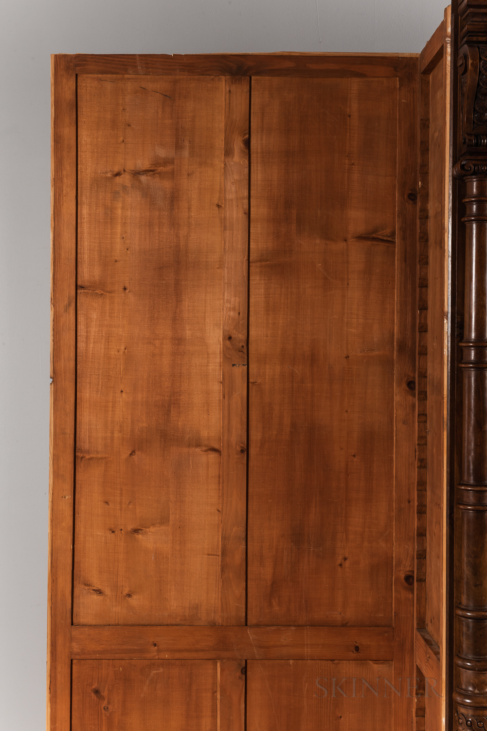 Carved Mahogany Breakfront - Image 8 of 8