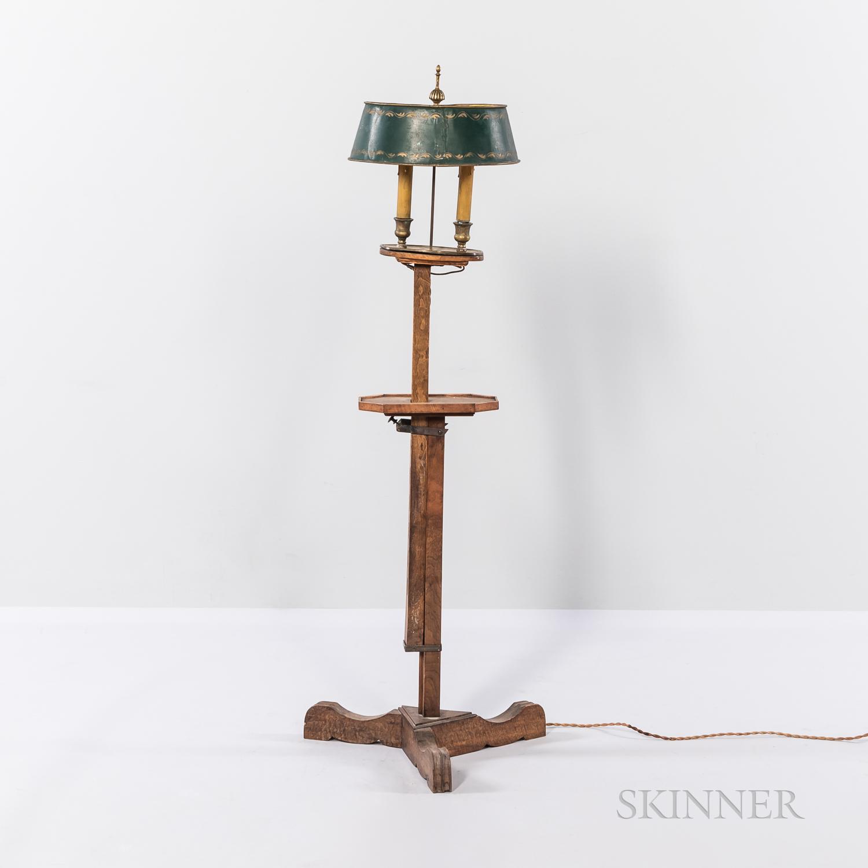Adjustable Wooden Floor Lamp