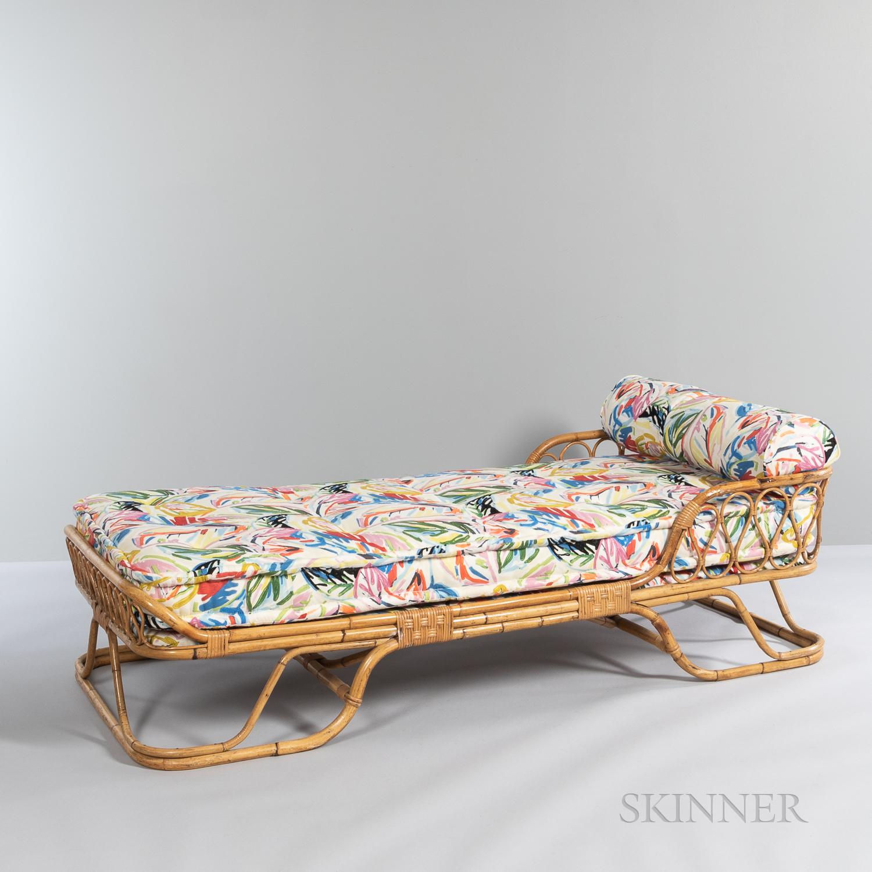 Italian Bamboo Chaise Lounge