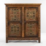Spanish Painted and Gilded Oak Armoire