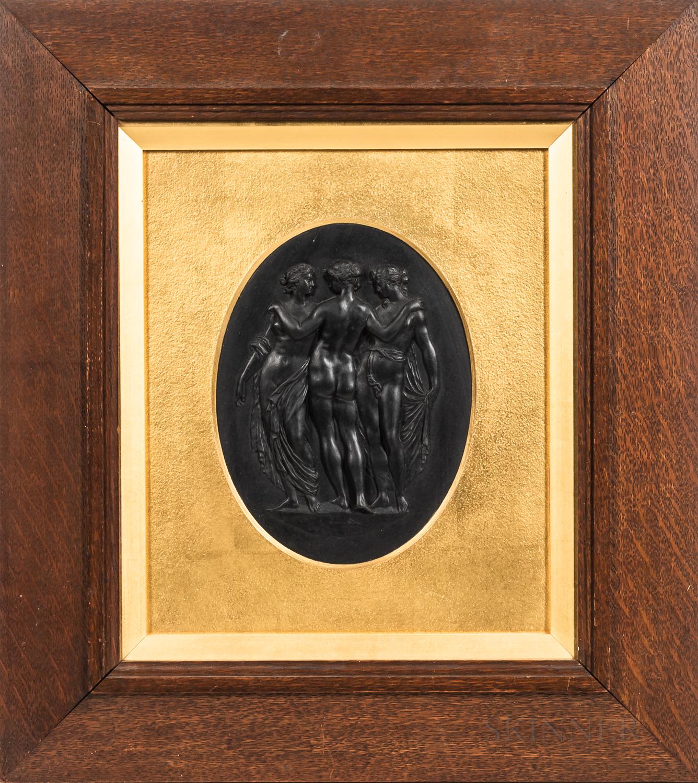 Wedgwood Black Basalt Three Graces Plaque