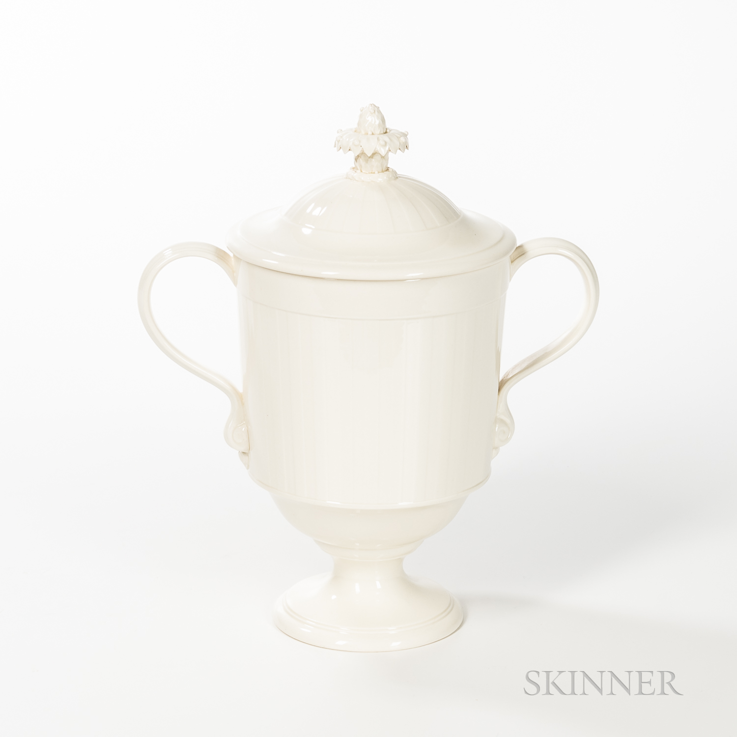 Modern Wedgwood Queen's Ware Cup and Cover