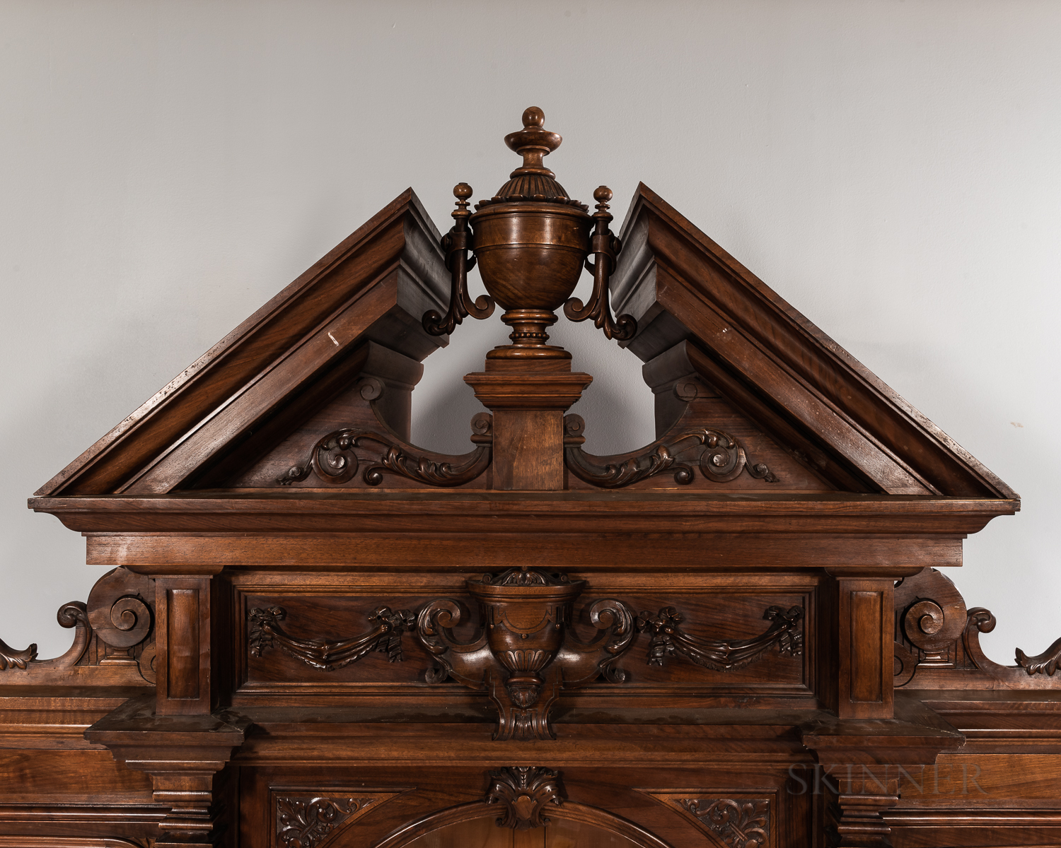 Carved Mahogany Breakfront - Image 2 of 8