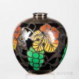 Furstenberg Silver Overlay Porcelain Vase
