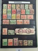 Collection of Br Empire/C'wealth + ROW mint & used stamps from counties A to F in 5 quality 30-