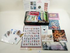 Box file crammed full of People's Republic of China mint/used stamps, postcards & bulletins from