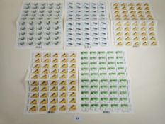 Unmounted mint QEII Hong Kong commem stamp sheets of 50 in folder. Complete sets of 4 values, 1997