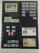 Pitcairn island stamps on 8 Hagner pages, mint & used KGVI/QEII defin, commem and postage due