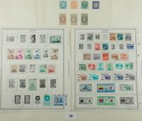 Korean Imperial & early South Korea stamps (late 40s/early 50s) on album pages. Defin & commem,