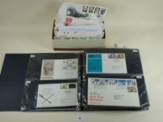Some 200 GB QEII FDC 1964 to 1998 in album and shoe box, many purposed/Philatelic Bureau, with