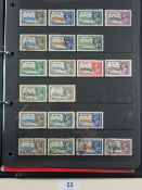 KGV 1935 Silver Jubilee omnibus collection in black folder with numerous complete mint & used sets