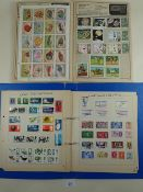 Stamp collection in 2 albums of GB and ROW mint/used defin and commem. Over 1,400. Incl thematic (