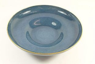 A Royal Worcester blue fruit bowl, 1904, 26.5cm diameter
