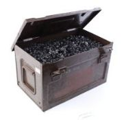 Ammunition transport box containing large quantity (55lbs approx.) 7.62mm link (M13?)