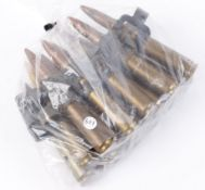 16 x .50 Browning MG inert cartridges in links