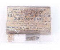 A Colt .31 percussion revolver cartridge with facsimile box