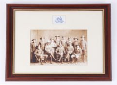 Framed and glazed sepia picture, Men of the Light Imperial Horse, two pencil portrait drawings
