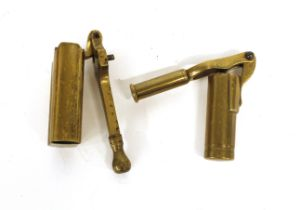 Brass 12 bore field capper by P Webley , no.7035; brass 12 bore capper/decapper, resizer by Henry Wa